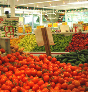 Tomatoes at retail