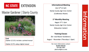 Cover photo for Stanly County Master Gardener Program Information