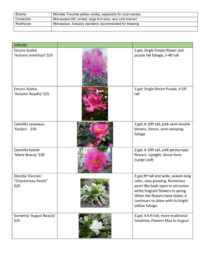 Plant sale list page 2