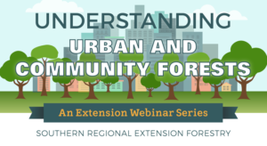 Understanding Urban and Community Forests: An Extension Webinar Series from SREF graphic