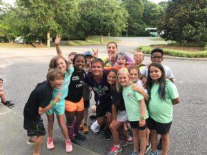 Youth at 4-H camp