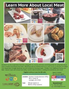 Cover photo for Learn More About Local Meat Davidson County Cooperative Extension   Fall 2018