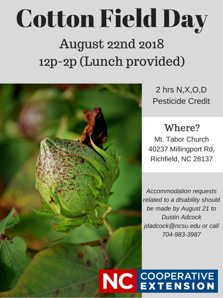 Cotton Field Day flyer image