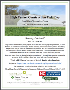 High Tunnel Workshop Flyer