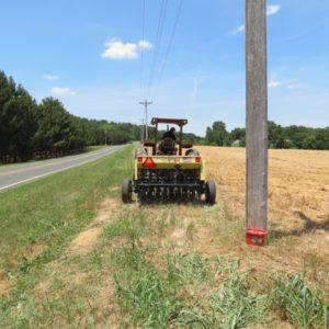 seeding between power poles