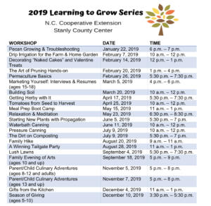 Cover photo for 2019 Learning to Grow Series