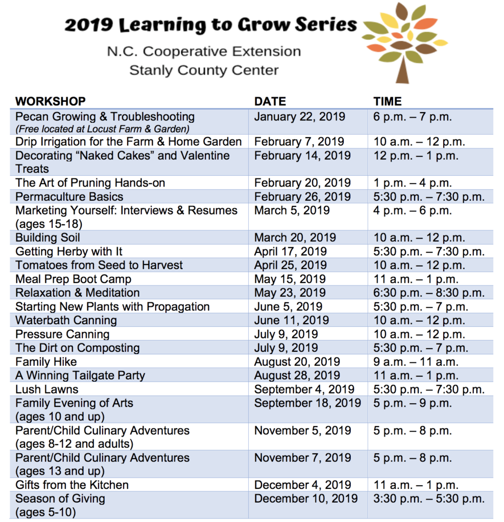 Learning to Grow flyer image
