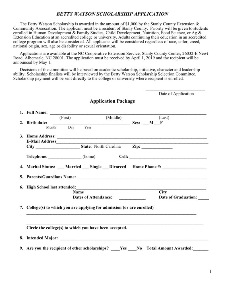 Application form image