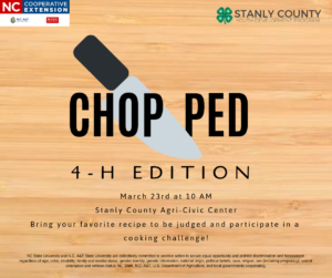 Cover photo for Chopped: 4-H Edition--a Cooking Event for Youth