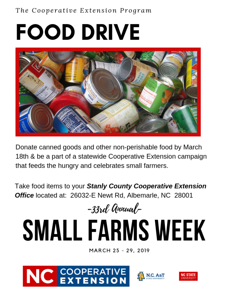 Food drive flyer image