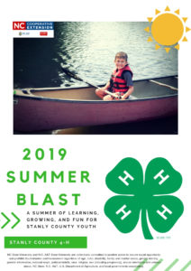 Cover photo for 2019 Summer Blast Schedule