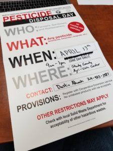 Pesticide Disposal Flyer