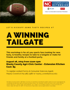 Cover photo for A Winning Tailgate Workshop Just for YOU!