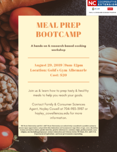 Cover photo for Meal Prep Bootcamp