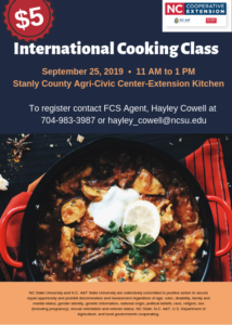 Cover photo for International Cooking Class
