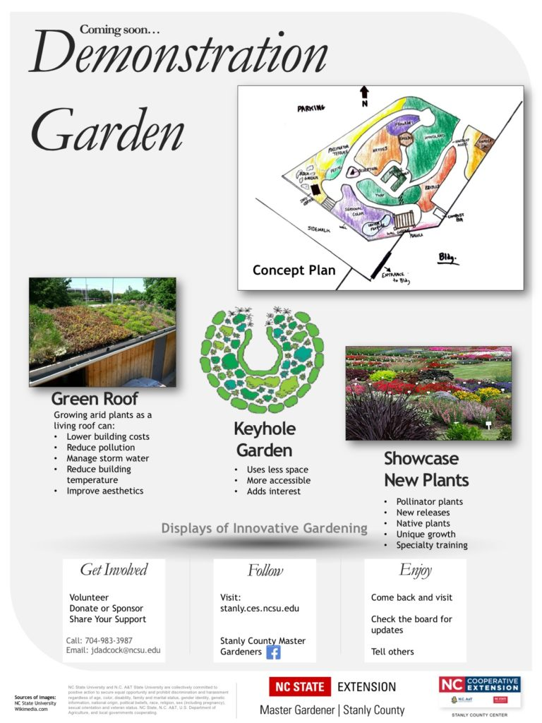 A concept poster for the garden.