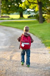 Image of boy with backpack