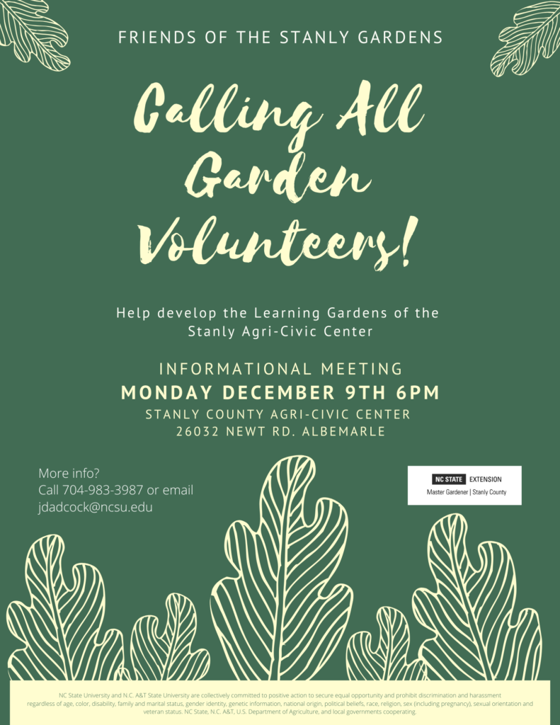 Friends of the Stanly Gardens flyer
