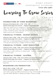 Cover photo for Spring Learning to Grow Series 2020