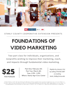 Cover photo for Foundations of Video Marketing Class
