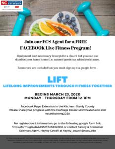 Cover photo for LIFT Live - Online Fitness Program!