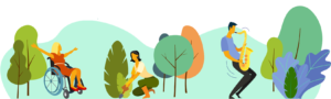 Graphic of therapeutic horticulture