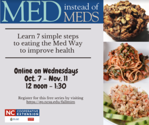 Cover photo for Med Instead of Meds - a Virtual Cross County Nutrition Program