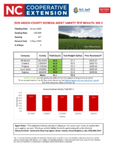 Soybean Variety Results page 2