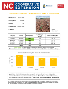 Soybean Variety Results page 3
