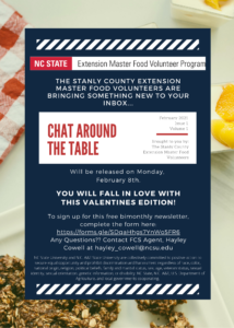Cover photo for Chat Around the Table E-Newsletter!!