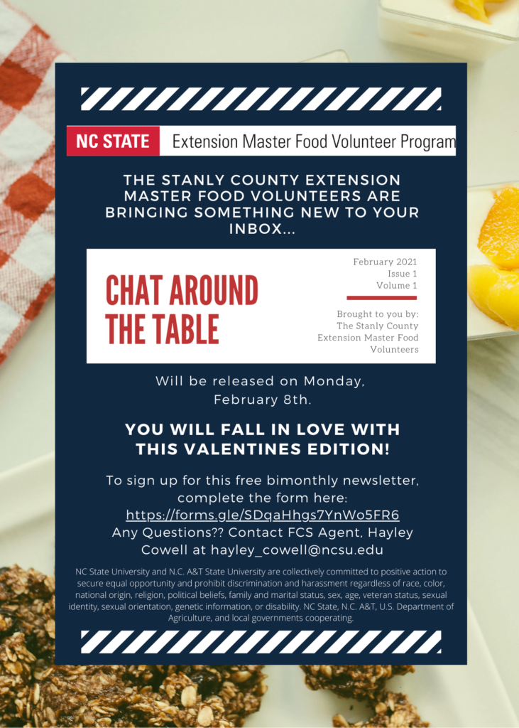 Chat Around the Table flyer