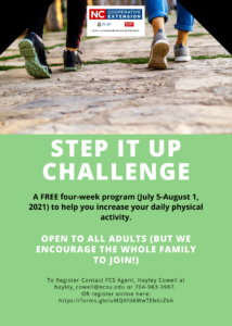 Cover photo for Step It Up NC Walking Challenge