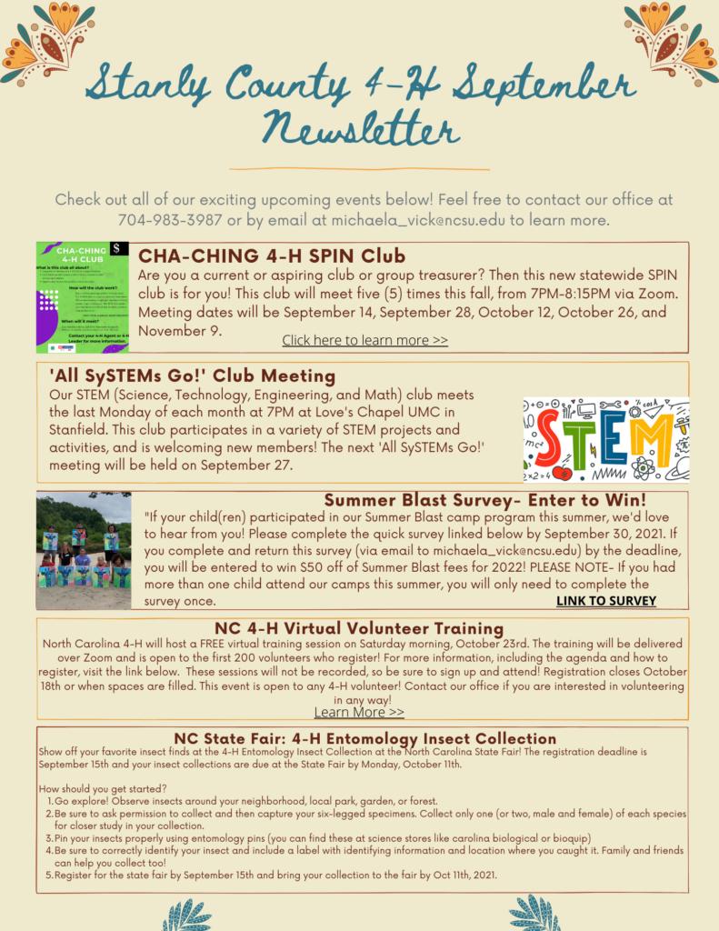 4-H Newsletter
