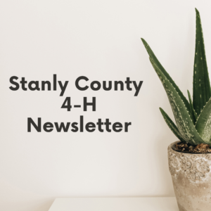 Cover photo for Stanly County 4-H Newsletter- September 2021