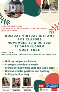 Cover photo for Virtual Holiday Instant Pot Workshops